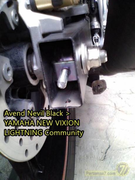 Setelan rantai Yamaha new Vixion patah karena ngawur 1