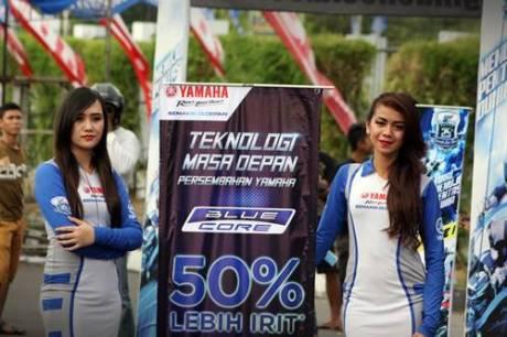 Sosialisasi Blue Core Inovasi Terbaru Yamaha di event Final Yamaha Cup Race 2014