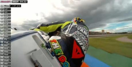 Warming up Practice motogp valencia 2014 mendung