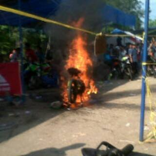 yamaha jupiter spek MP2 terbakar di jambi