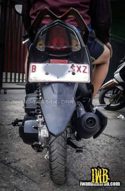 Yamaha Mio M3 125 Bule COre engine 2PH pertamax7.com tampak belakang
