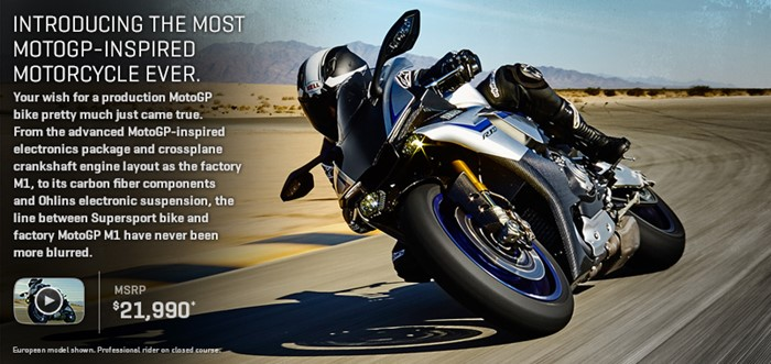 yamaha R1M USA price