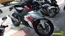 Yamaha Vixion Berjubah R15 pakai buntut R25 5