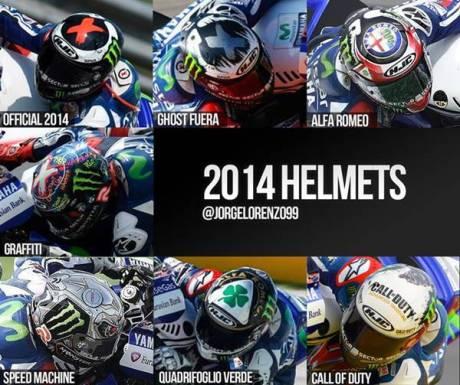 corak helm HJC lorenzo motogp musim 2014