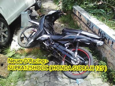 Honda freed Tabrak 2 motor di Semarang 3