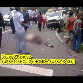 Honda freed Tabrak 2 motor di Semarang  banjir darah