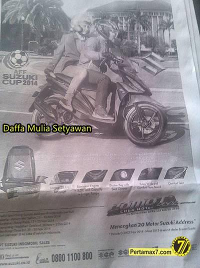 Iklan Suzuki Address di Koran Tonjolkan Matic Global Eropa Australia dan Jepang 5