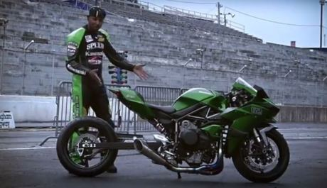 Kawasaki Ninja H2 Drag version 402 meter