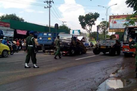 Kecelakaan beruntun di Kostrad Singosari melibatkan Panser