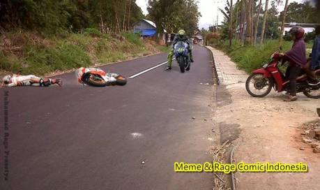 kecelakaan karena pemotor ibu ibu