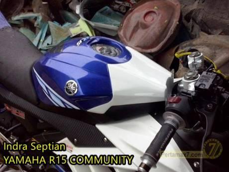 Kondom tangki yamaha R15 ala Yamaha R6 pertamax7.com 2