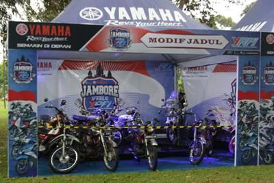 Kontes motor jadul di Jamnas ke-2 YRFI