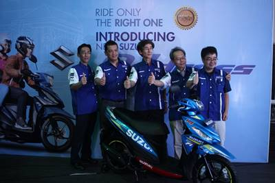 launching Suzuki address Livery Motogp 6
