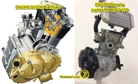 mesin suzuki satria F vs Yamaha Jupiter MX King 150