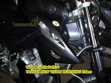 Modifikasi Yamaha New Vixion Pakai Sein Jupiter MX bergaya Mata Elang