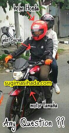 motor yamaha jaket suzuki helm honda