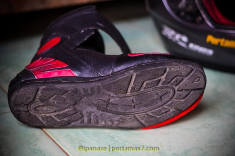 Nyoba Sepatu Riding 7gear SportMax Red_-10