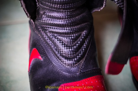 Nyoba Sepatu Riding 7gear SportMax Red_-9