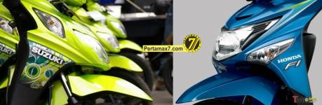 Suzuki Nex VS Honda beat POP ESP lampu samping