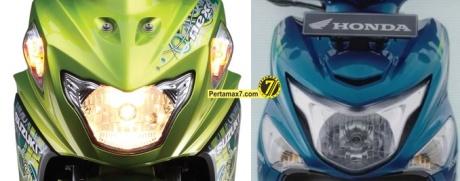 Suzuki Nex VS Honda beat POP ESP lampu