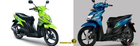 Suzuki Nex VS Honda beat POP ESP samping depan