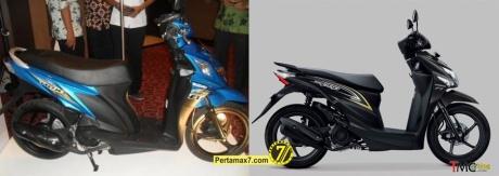 Suzuki Nex VS Honda beat POP ESP samping