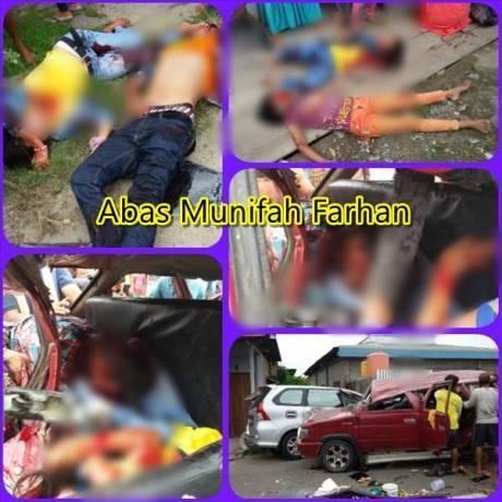 Tabrakan Maut Mobil Peziarah VS Mobil Rombongan Pengantin Di Polewali Mandar 4 Meninggal 8 Luka