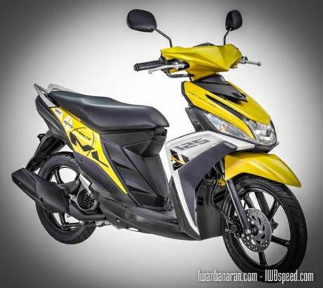 Yamaha Mio 125 cast_yellow