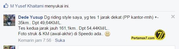 yamaha mio GT tembus 49 km per liter 2