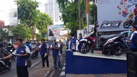 Yamaha Mio M3 125 Serentak diperkenalkan di jawa Timur dalam Mio M3 Day Mio M3 Day di area Jawa Timur
