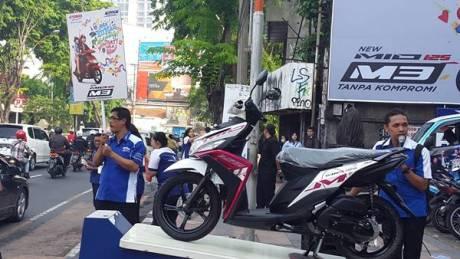 Yamaha Mio M3 125 Serentak diperkenalkan di jawa Timur dalam Mio M3 Day Mio M3 Day di area Jawa Timur(3)