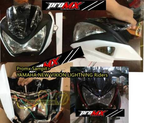 Yamaha New Vixion pakaii lampu kawasaki Z250 1