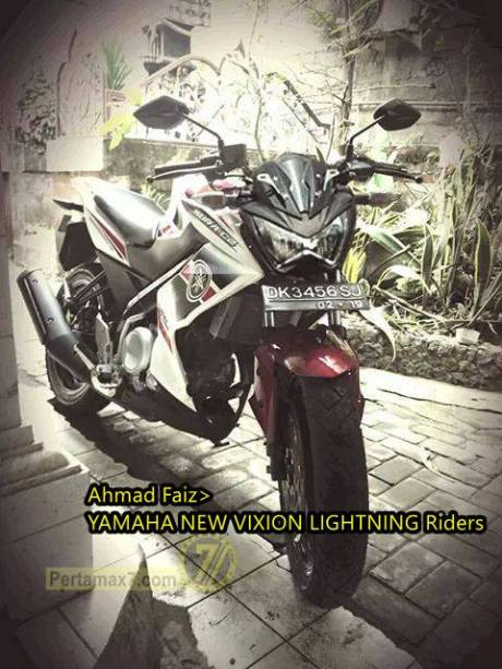 Yamaha New Vixion pakaii lampu kawasaki Z250 4