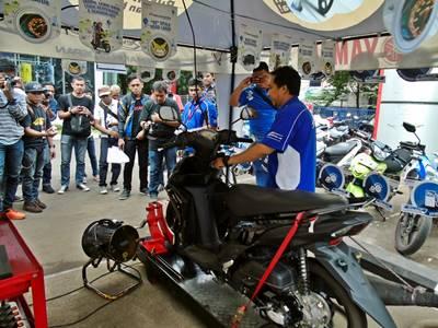 Yamaha Uji Mio M3 125 Nyala Nonstop 30 hari, tembus 60 km.liter diatas Dyotest 5