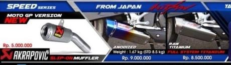 Aksesoris Yamaha R25 knalpot Hitman Japan harga