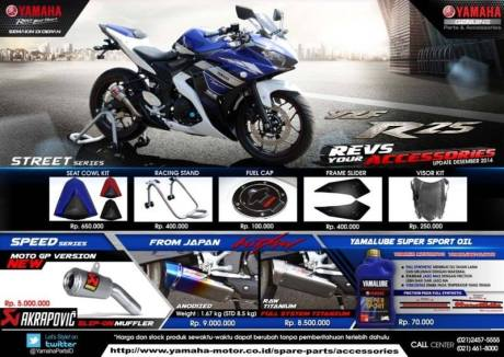 Aksesoris Yamaha R25 knalpot Hitman Japan