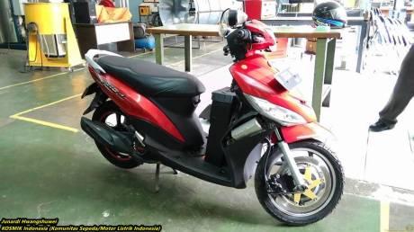 Bajaj Pulsar bermesin motor listrik karya Politeknik Negeri Jakarta 13