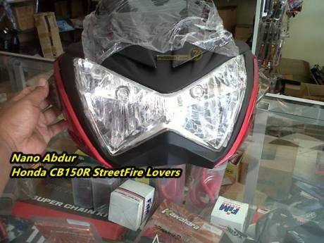 Detail Headlamp Replika Kawasaki Z250, Pake Bohlam Motor Bebek Soket M5 11