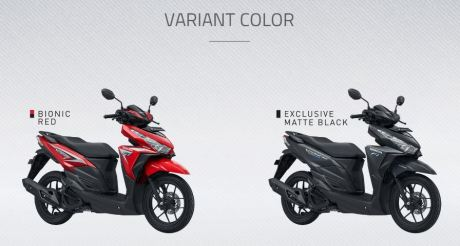dua variant warna honda vario 150
