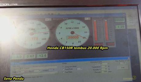 Honda CB150R tembus 20.000 Rpm
