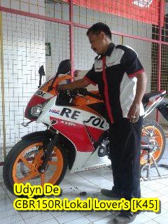Honda CBR150R repsol hilang huruf P