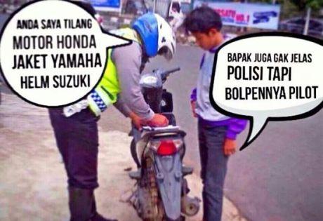meme motor honda jaket yamaha helm suzuki