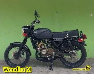 modifikasi kawasaki ninja RR 150 jadi Honda CB jadul