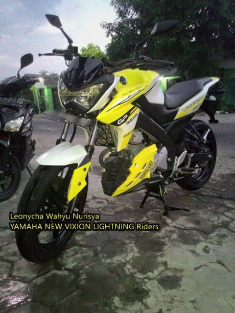 Modifikasi Yamaha New Vixion Pakai headlamp kawasaki Z250 replika Madiun 13