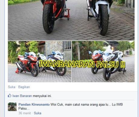 Nama Iwanbanaran di catut untuk jualan motor tanpa bpkb 3