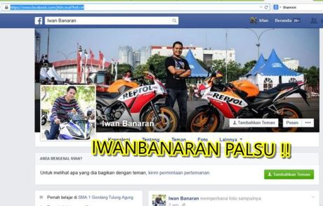 Nama Iwanbanaran di catut untuk jualan motor tanpa bpkb 4