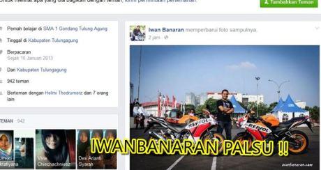 Nama Iwanbanaran di catut untuk jualan motor tanpa bpkb 5
