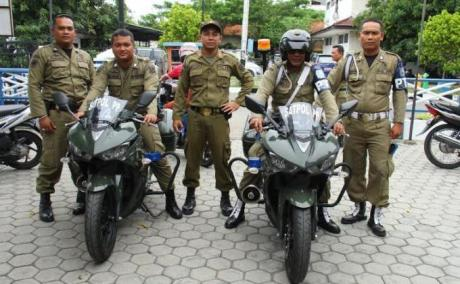 Satpol PP kota tegal Gunakan Yamaha R25 untuk kawal Walikota 2