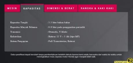 spesifikasi honda vario 150 a