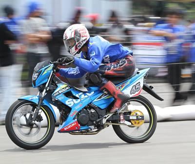 Suzuki Indonesia Challenge 2015 Satria Cup Medan, Pebalap Aceh Jawara 2